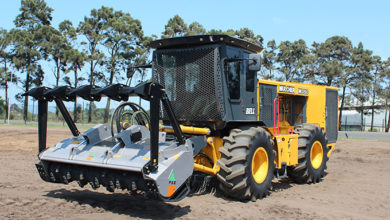 Photo of Bell mulcher developed for SA conditions