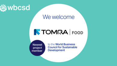Photo of TOMRA Food, a global provider of sensors, equipment and digital solutions for the food supply chain, joined over 200 forward-thinking companies as the newest project member of the World Business Council for Sustainable Development (WBCSD).